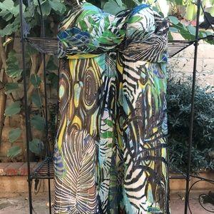 Cache shirt bustier print dress